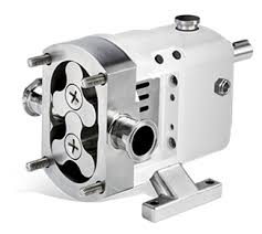 Image of a white Wright Flow Technologies Rotary Lobe Pump.